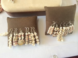 Niihau shell earings